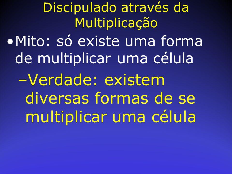 Mito: só existe uma forma de multiplicar uma célula –Verdade: existem diversas formas de se multiplicar uma célula Discipulado através da Multiplicaçã