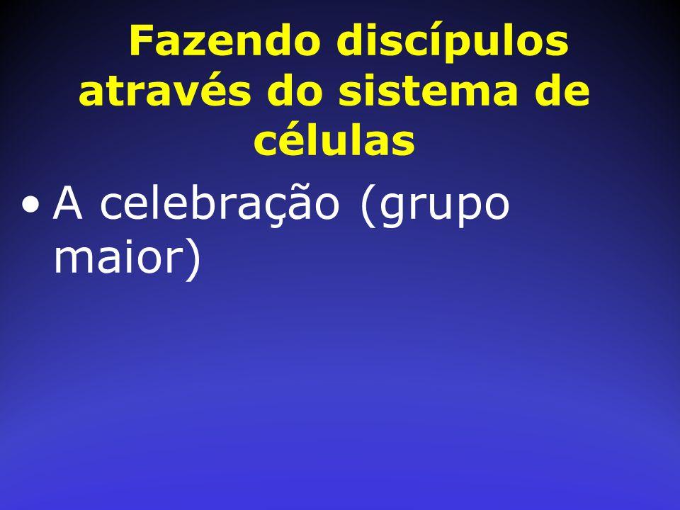 Fazendo discípulos através do sistema de células A celebração (grupo maior)