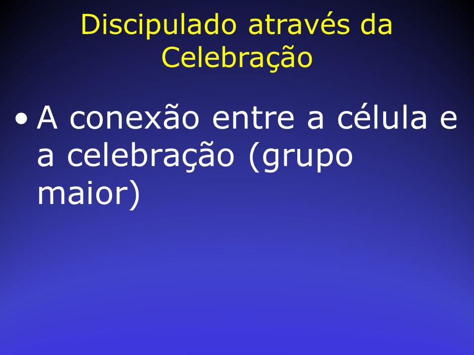 A conexão entre a célula e a celebração (grupo maior) Discipulado através da Celebração