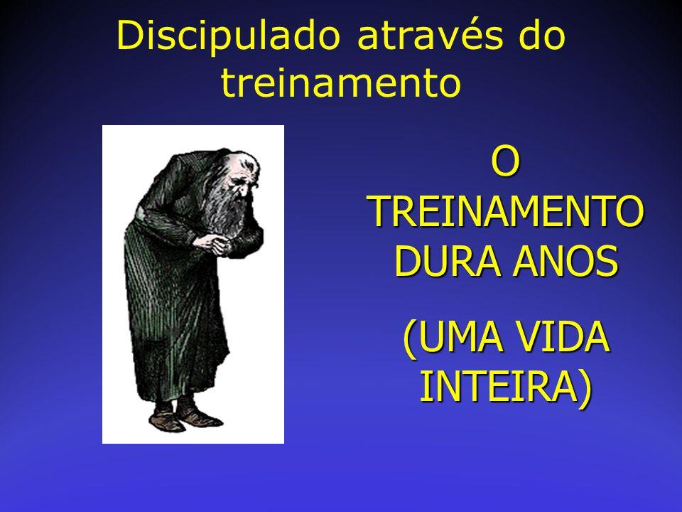 O TREINAMENTO DURA ANOS (UMA VIDA INTEIRA) Discipulado através do treinamento