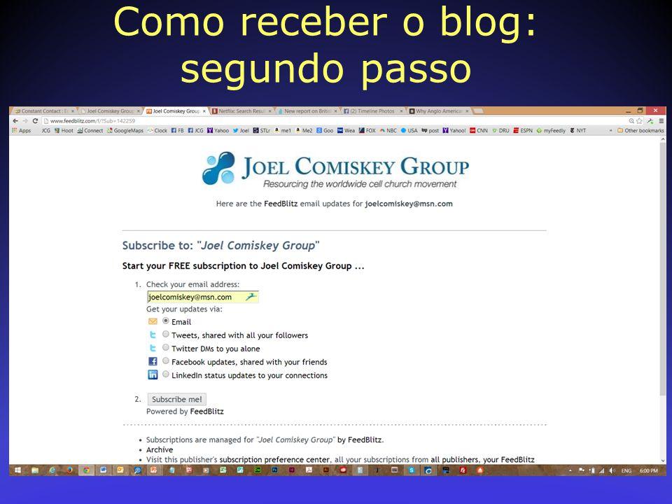 Como receber o blog: segundo passo