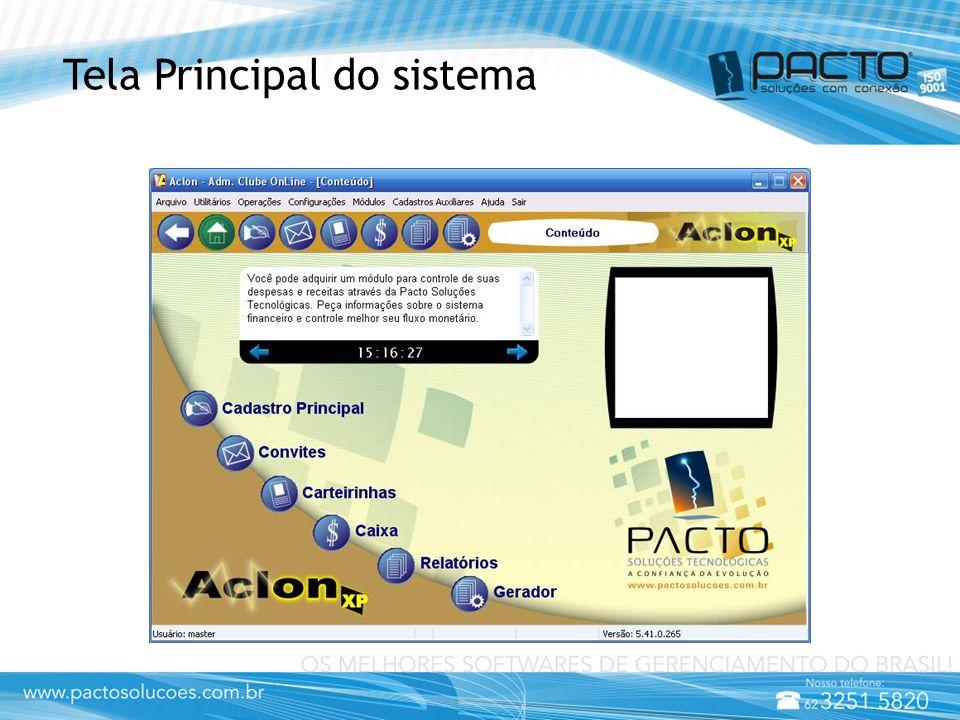 Tela Principal do sistema