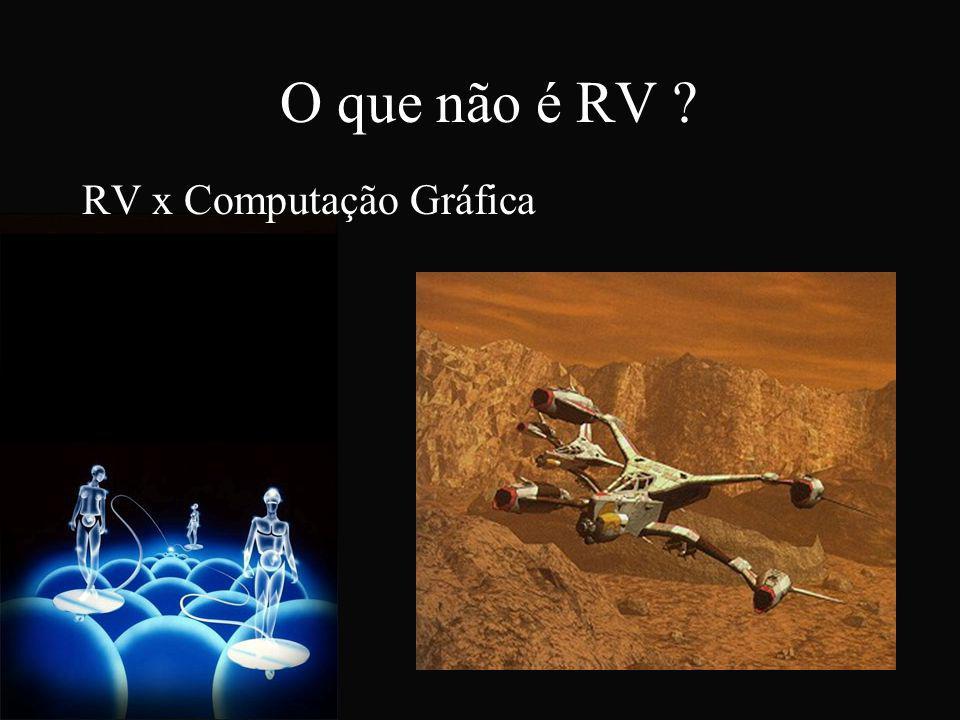 O que não é RV ? RV x Computação Gráfica