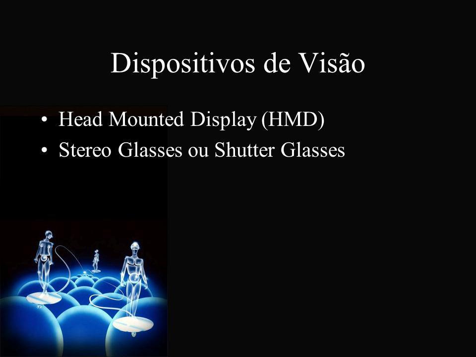 Dispositivos de Visão Head Mounted Display (HMD) Stereo Glasses ou Shutter Glasses