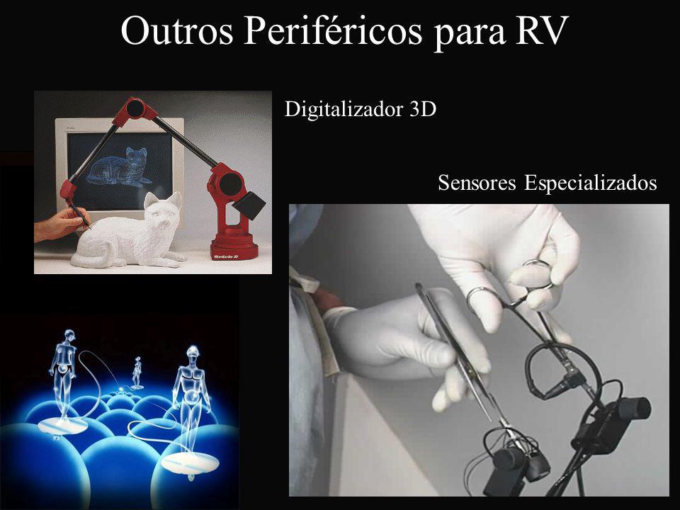 Digitalizador 3D Sensores Especializados Outros Periféricos para RV