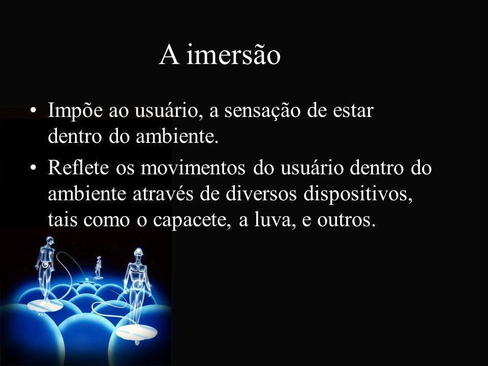 A interação É definida como a capacidade que o sistema de RV tem de responder ao usuário.