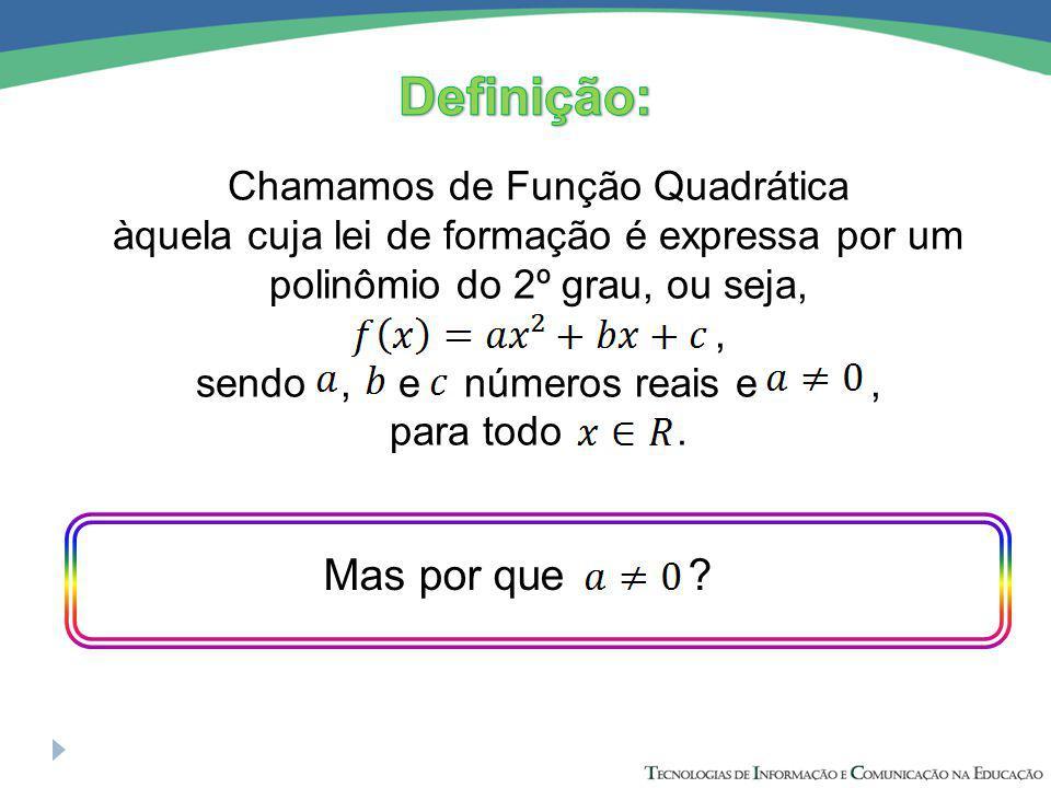 Se a=0, Veja que a função não será Quadrática mas sim Afim, em que b será o coeficiente angular e c o linear.