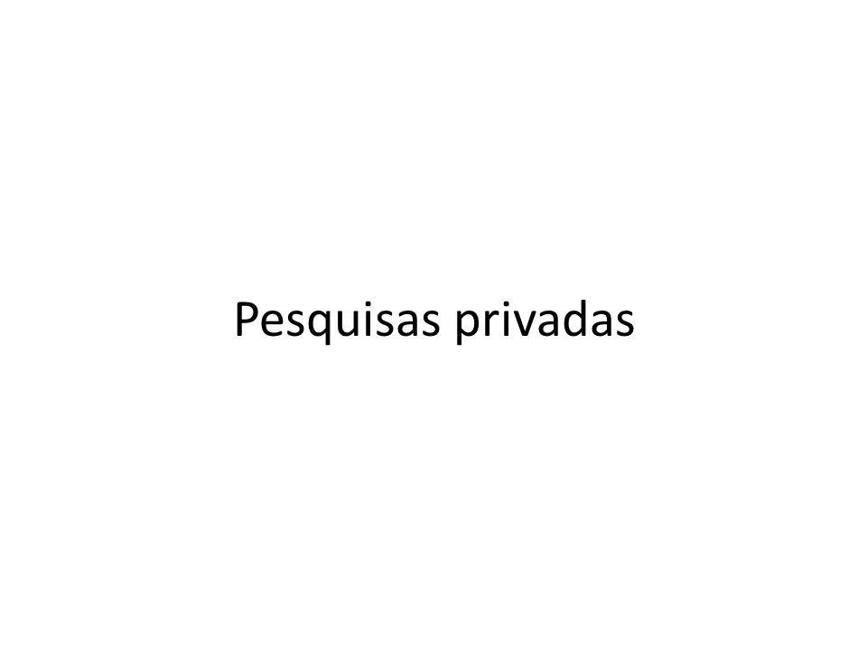 Pesquisas privadas
