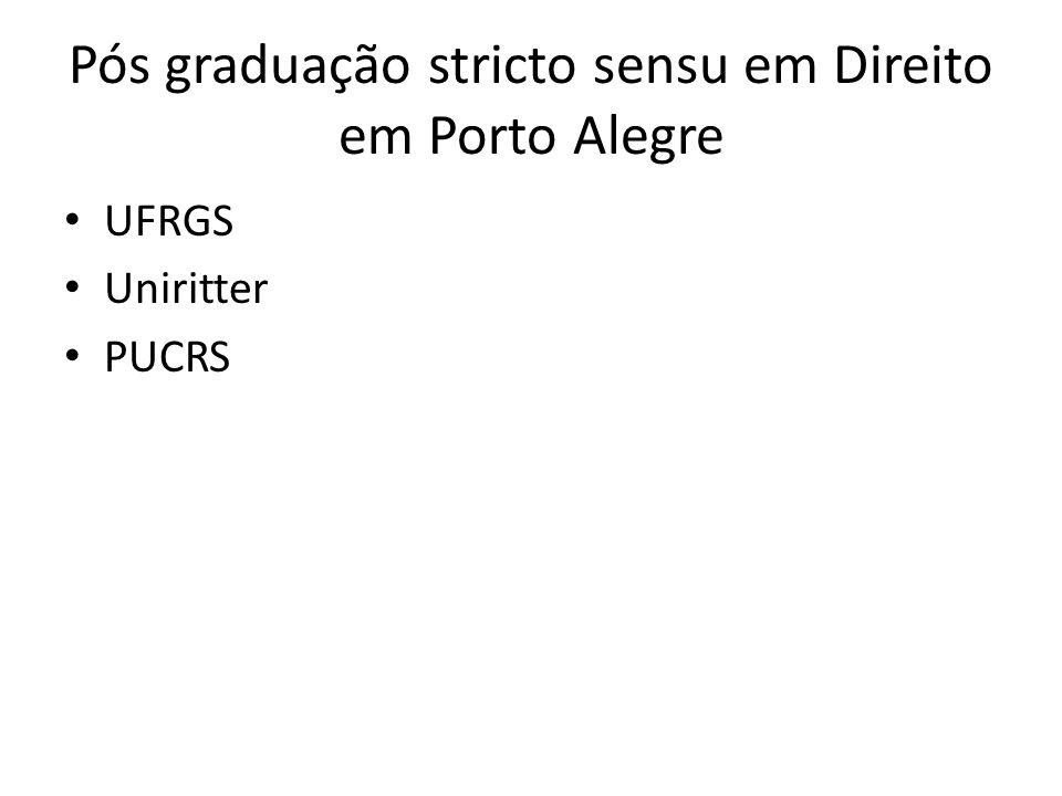 Pós graduação stricto sensu em Direito em Porto Alegre UFRGS Uniritter PUCRS