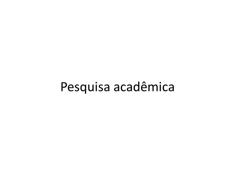 Pesquisa acadêmica