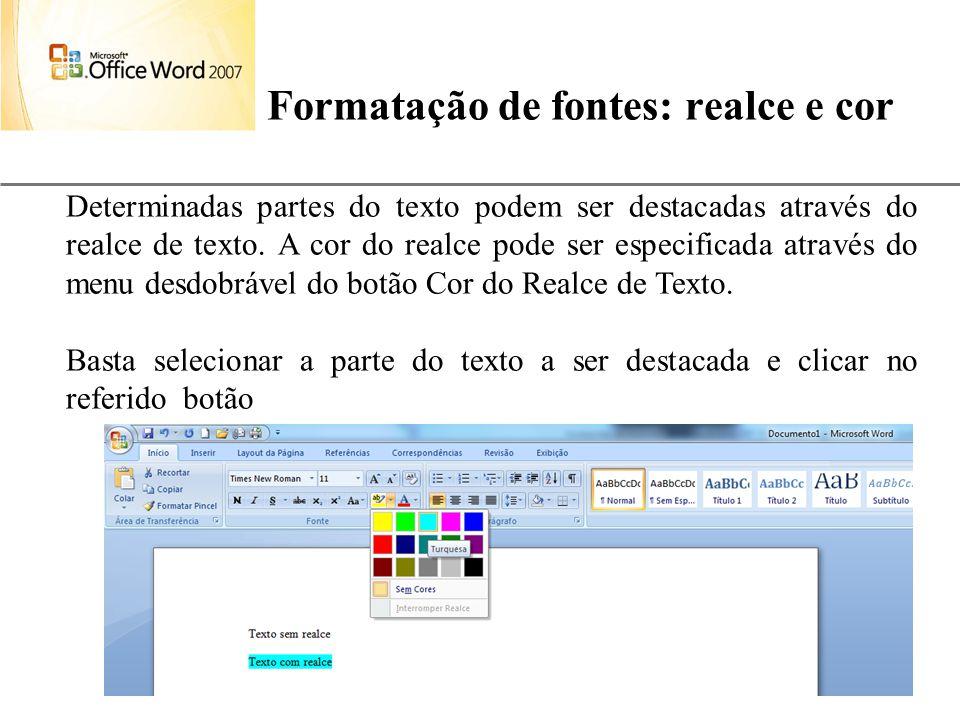 XP 31 Formatação de fontes: realce e cor Aulas de Informática – prof. André Aparecido da Silva E-mail: anndrepr@yahoo.com.br Determinadas partes do te