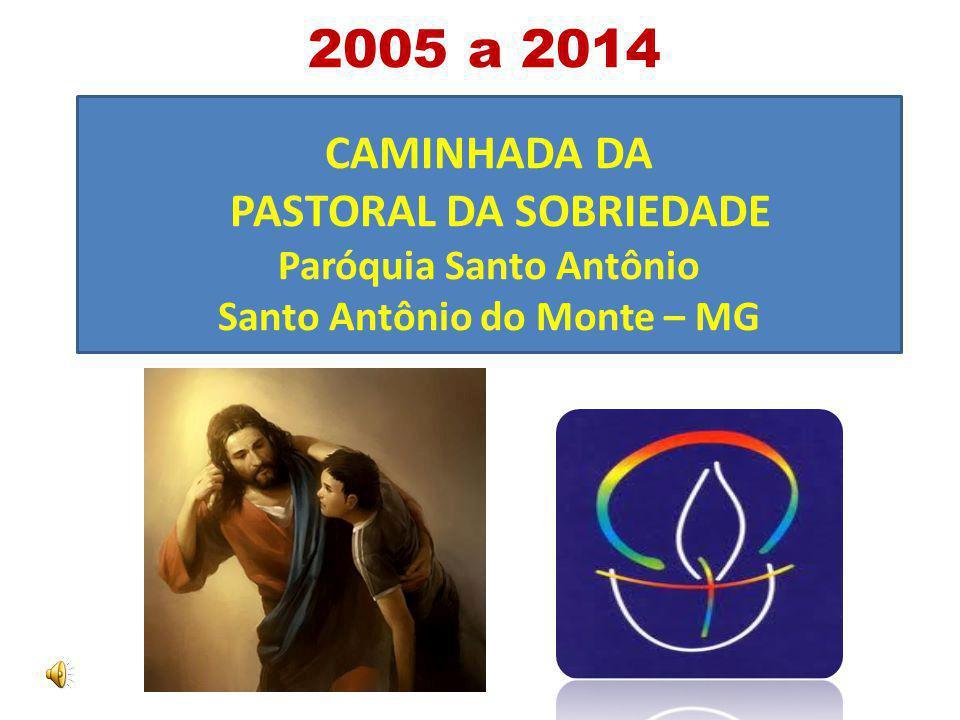 CAMINHADA DA PASTORAL DA SOBRIEDADE Paróquia Santo Antônio Santo Antônio do Monte – MG 2005 a 2014