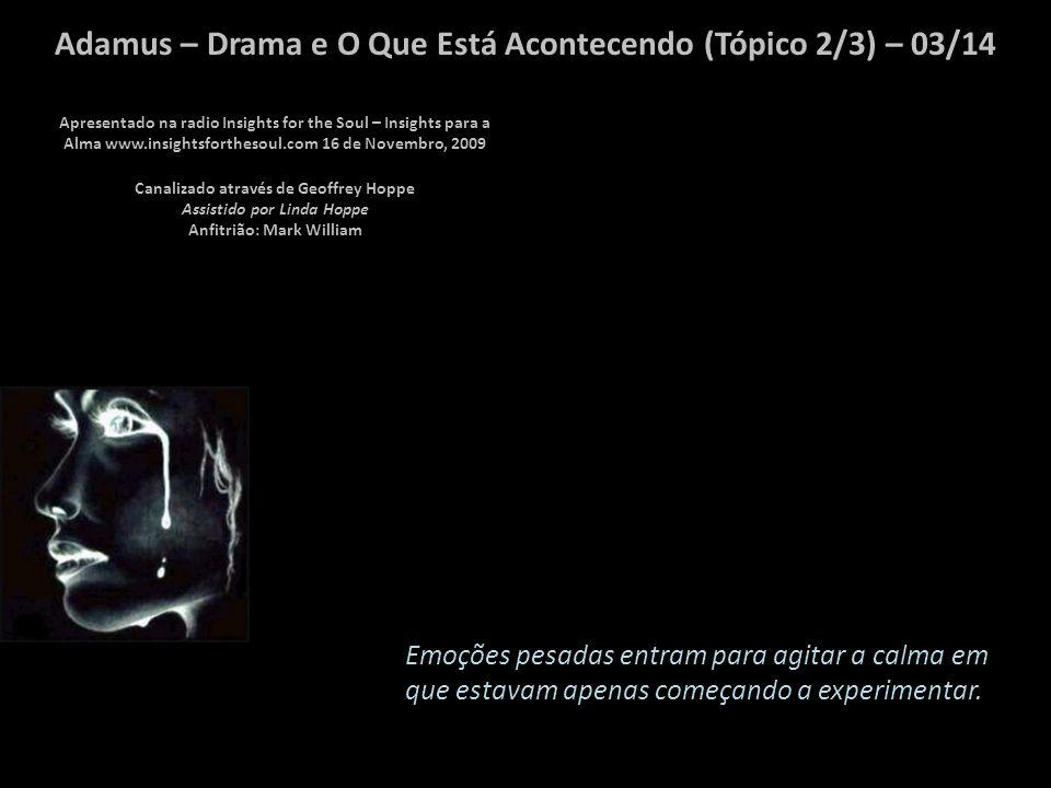 Adamus – Drama e O Que Está Acontecendo (Tópico 2/3) – 02/14 Vocês trazem o drama para sua vida quando ele não precisa estar lá.