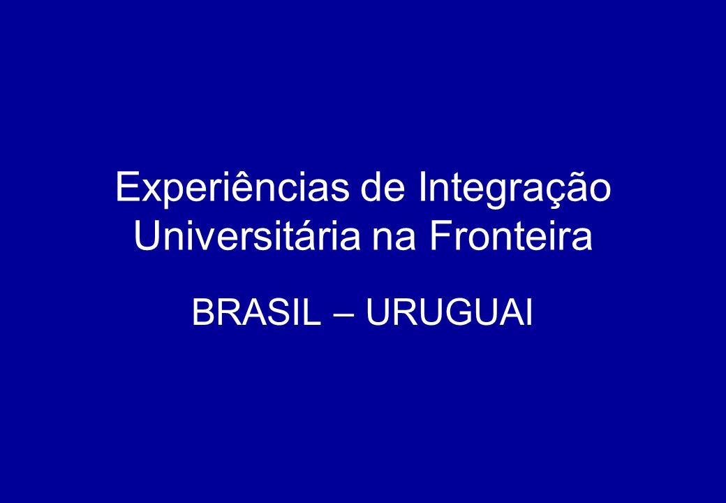 Experiências de Integração Universitária na Fronteira BRASIL – URUGUAI