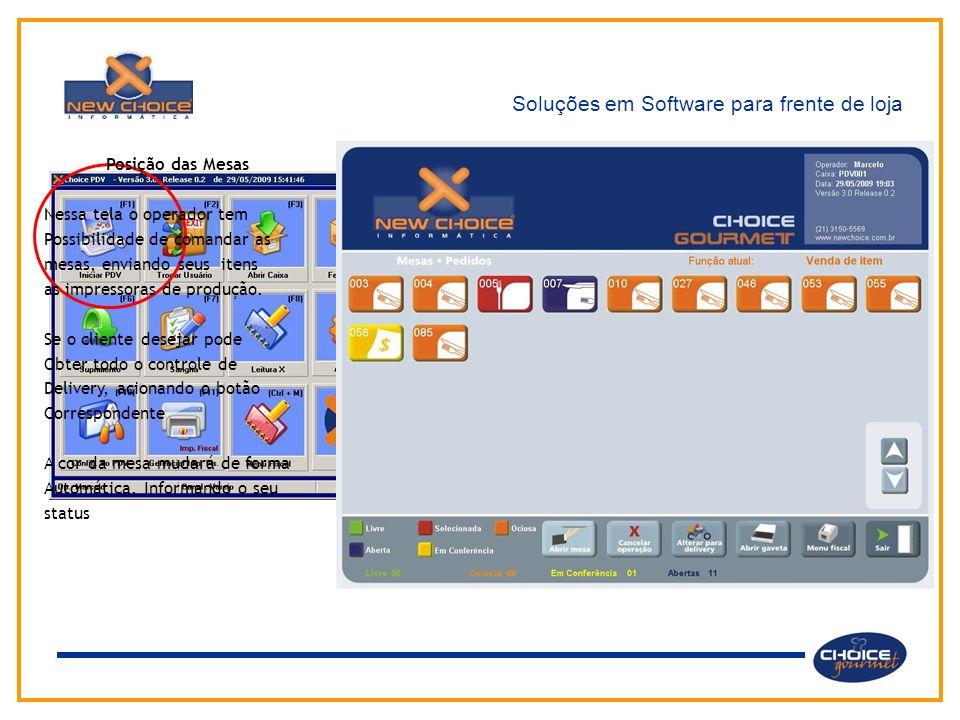 Soluções em Software para frente de loja Através do menu principal o usuário tem acesso aos diversos módulos e funções do sistema.  Operações de Vend