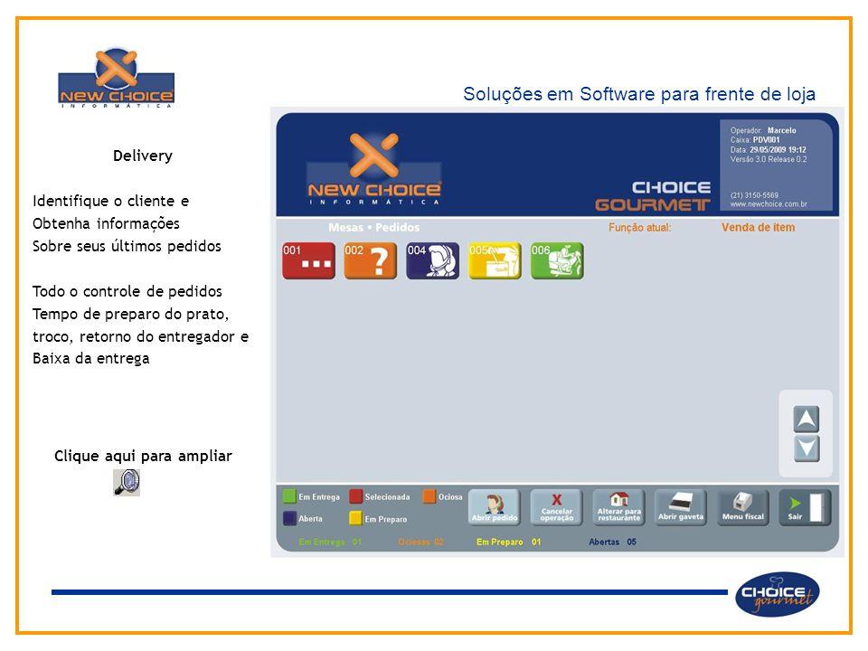 Soluções em Software para frente de loja Delivery Identifique o cliente e Obtenha informações Sobre seus últimos pedidos Todo o controle de pedidos Te