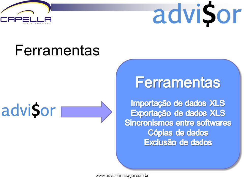 www.advisormanager.com.br Ferramentas