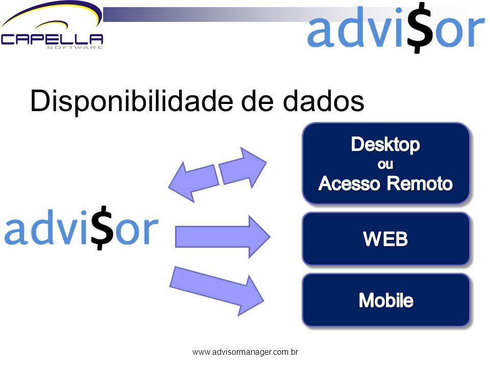 www.advisormanager.com.br Parâmetros de configuração