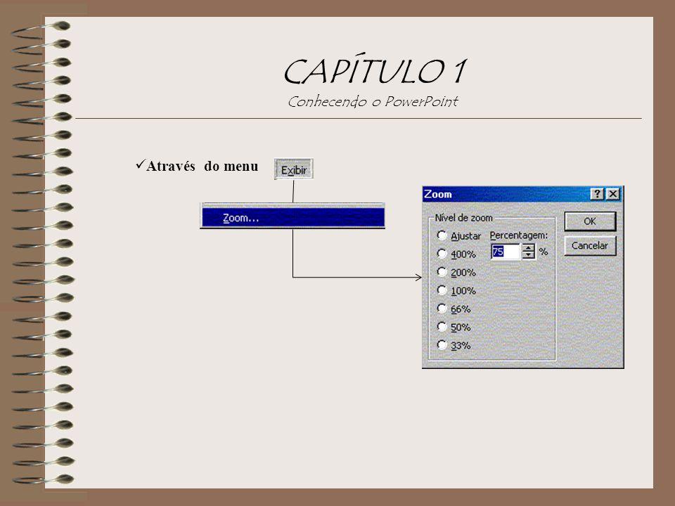 CAPÍTULO 1 Conhecendo o PowerPoint Através do menu