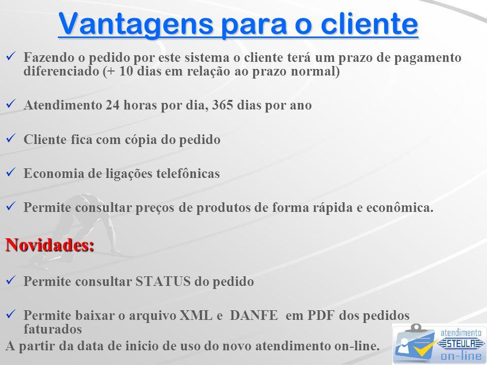 Instruções para operação do STEULA-ON-LINE  Selecionando a opção CONSULTAR PEDIDOS...