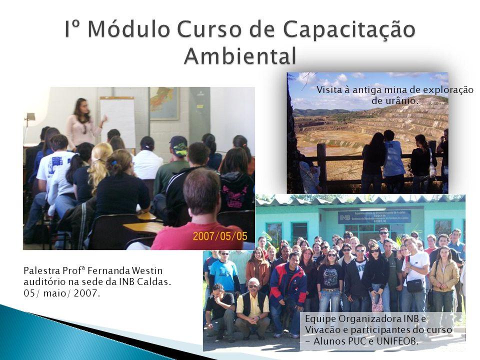 Palestra Profª Fernanda Westin auditório na sede da INB Caldas.