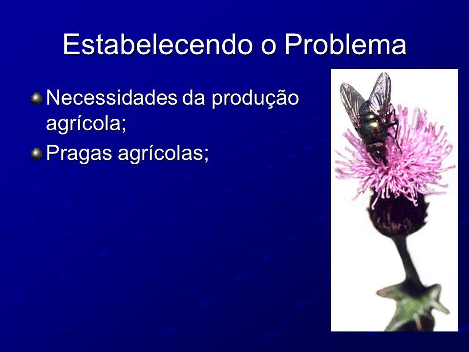 Estabelecendo o Problema Necessidades da produção agrícola; Pragas agrícolas;