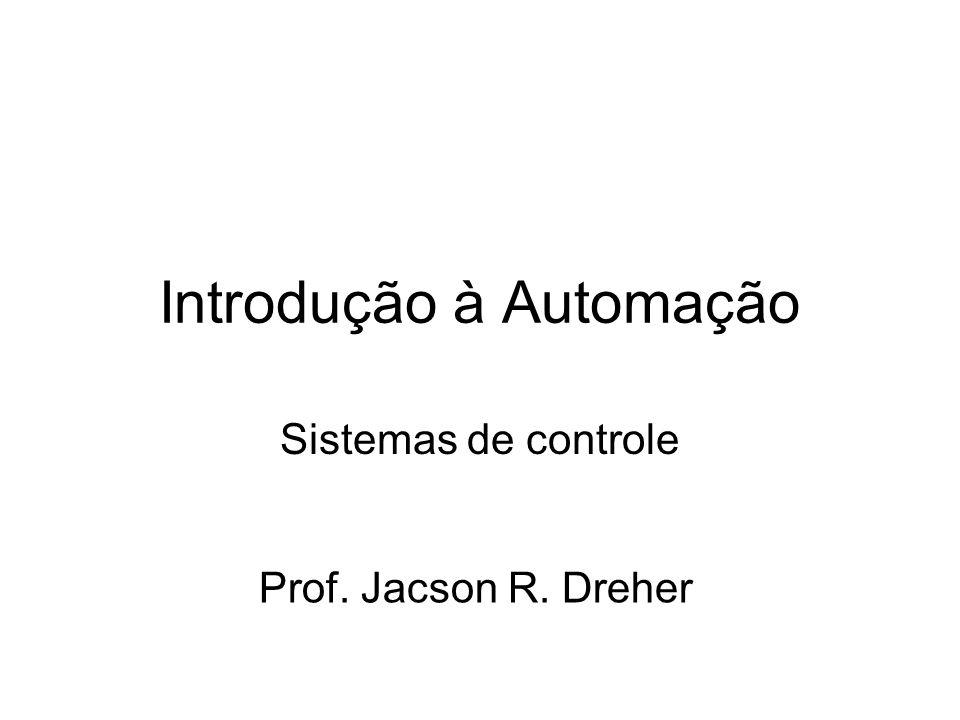 Introdução à Automação Sistemas de controle Prof. Jacson R. Dreher