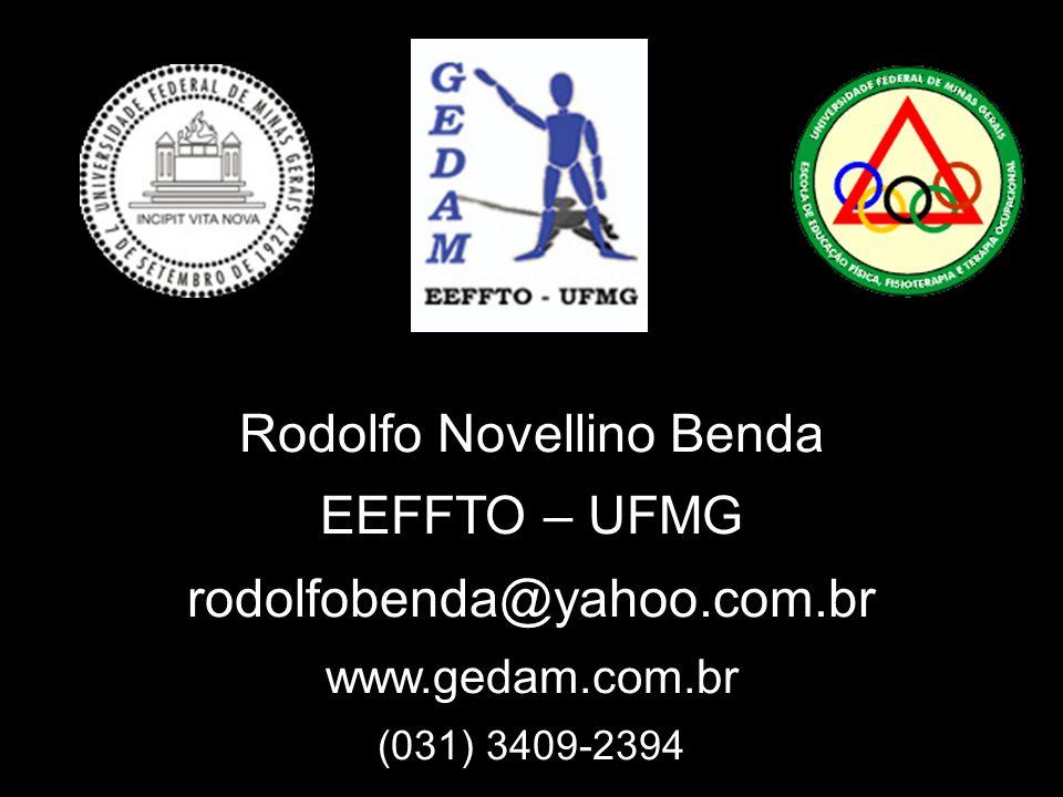 Rodolfo Novellino Benda EEFFTO – UFMG rodolfobenda@yahoo.com.br www.gedam.com.br (031) 3409-2394