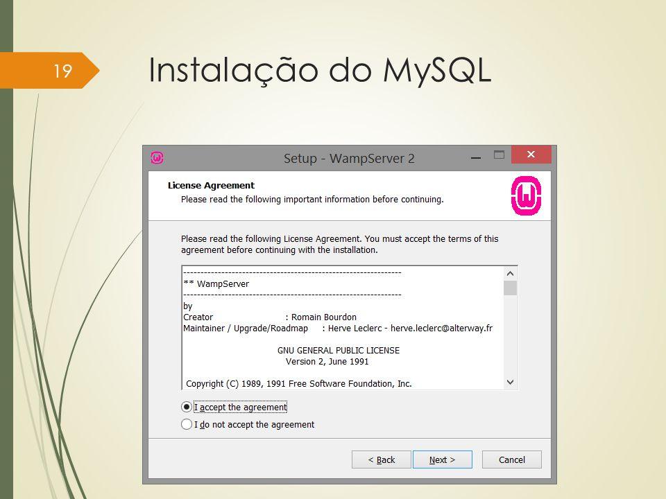 Instalação do MySQL Instituto Federal do Sul de Minas, câmpus Pouso Alegre 19