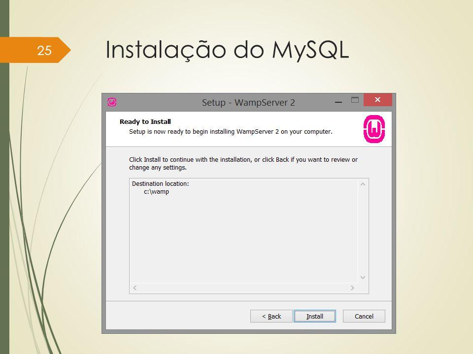 Instalação do MySQL Instituto Federal do Sul de Minas, câmpus Pouso Alegre 25