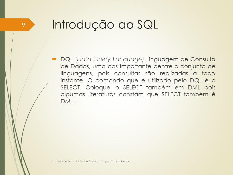 Linguagem de Definição de Dados no MySQL - DDL CREATE TABLE tbClasse ( codigoClasse INT, nomeClasse VARCHAR(30) NOT NULL, precoClasse NUMERIC(4,2) NOT NULL, CONSTRAINT pk_tbClasse_codigoClasse PRIMARY KEY (codigoClasse), CONSTRAINT ck_tbClasse_nomeClasse CHECK (nomeClasse IN ('Lançamento','Catálogo')) ); Instituto Federal do Sul de Minas, câmpus Pouso Alegre 110
