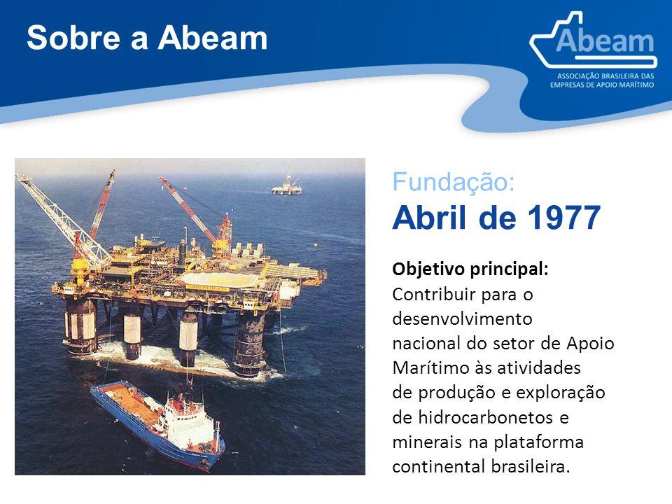 Sobre a Abeam Fundação: Abril de 1977 Objetivo principal: Contribuir para o desenvolvimento nacional do setor de Apoio Marítimo às atividades de produ