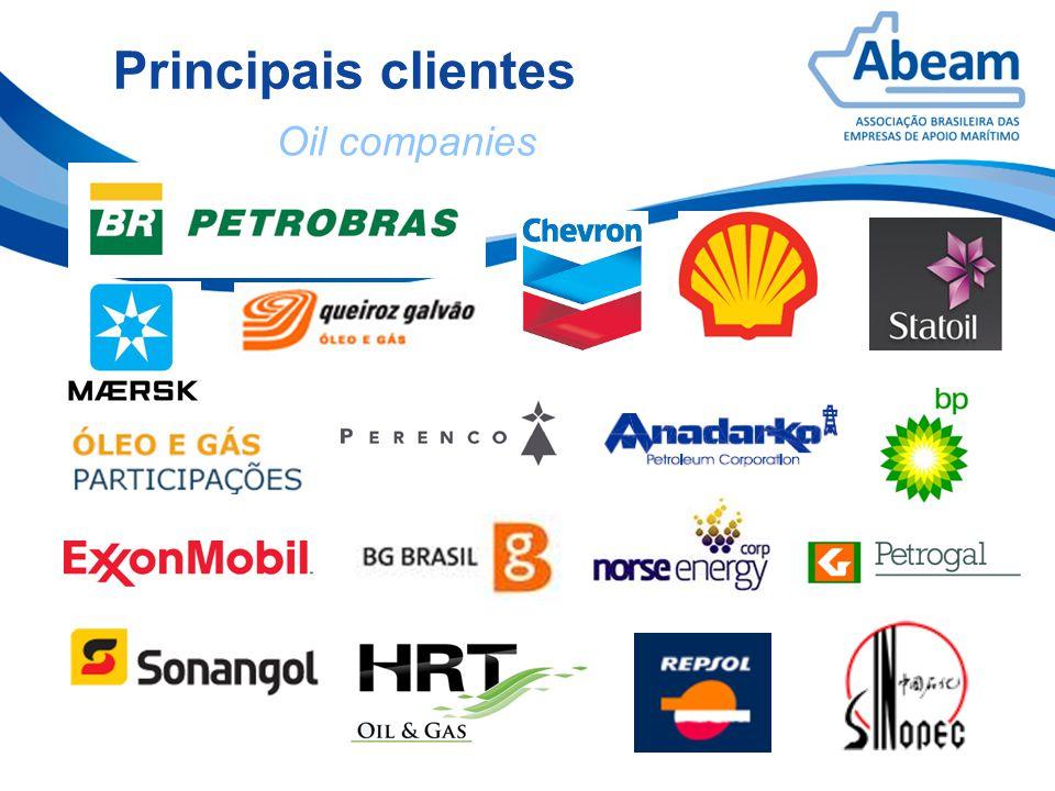 Principais clientes Oil companies