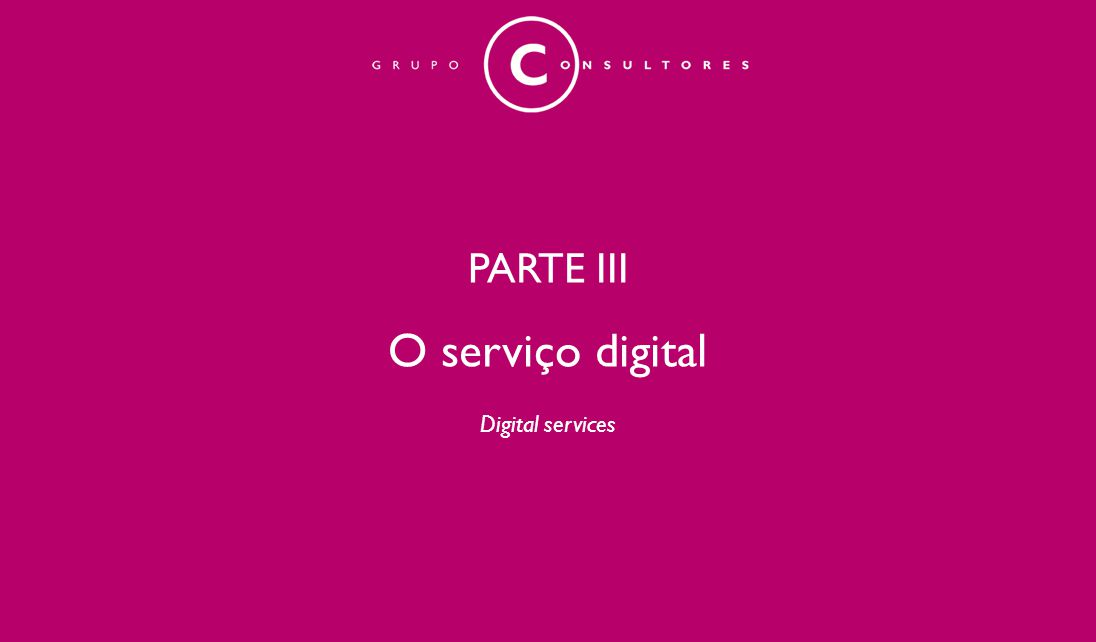 PARTE III O serviço digital Digital services