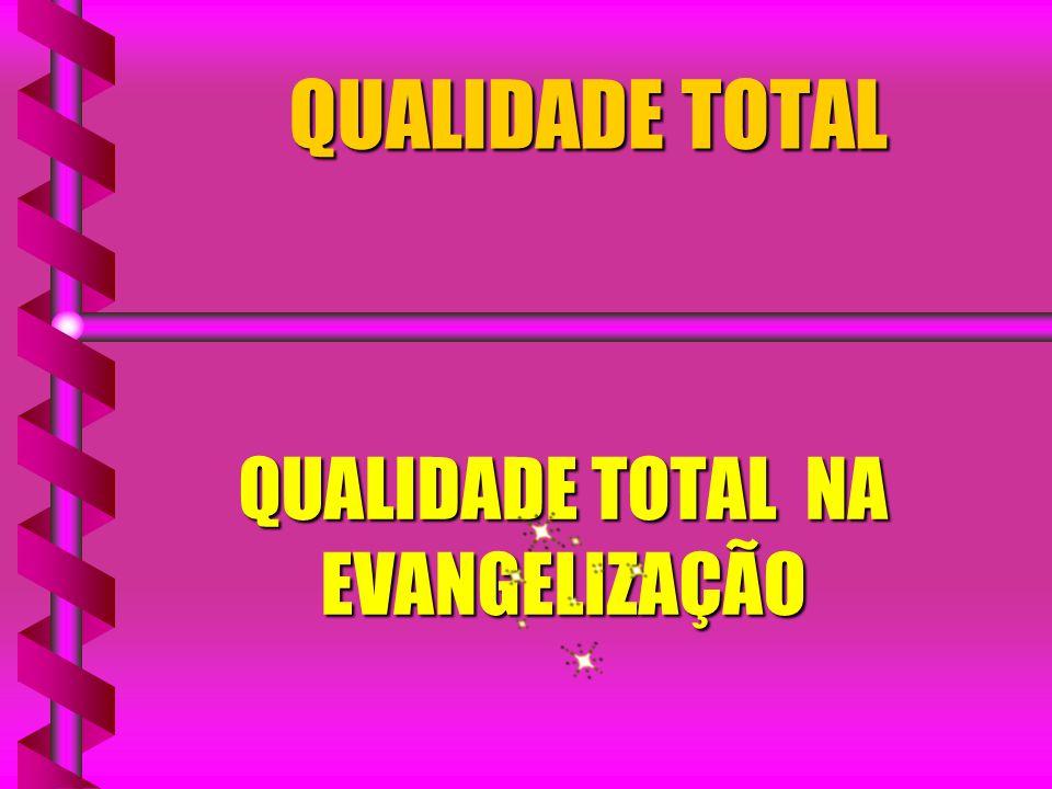 QUALIDADE TOTAL QUALIDADE TOTAL NA EVANGELIZAÇÃO