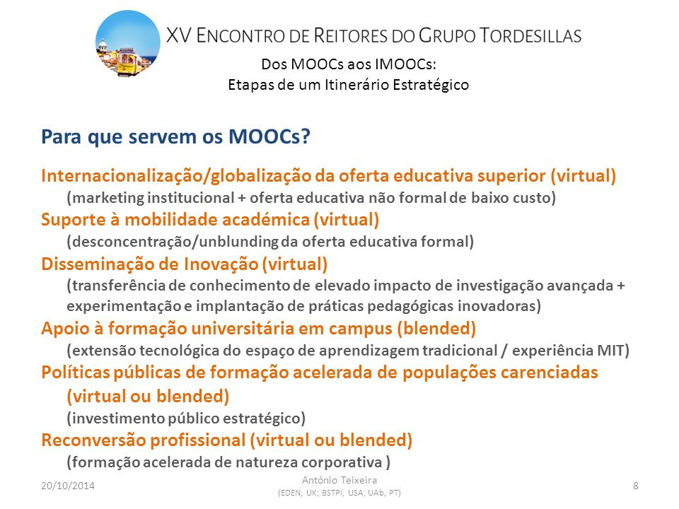 Para que servem os MOOCs.