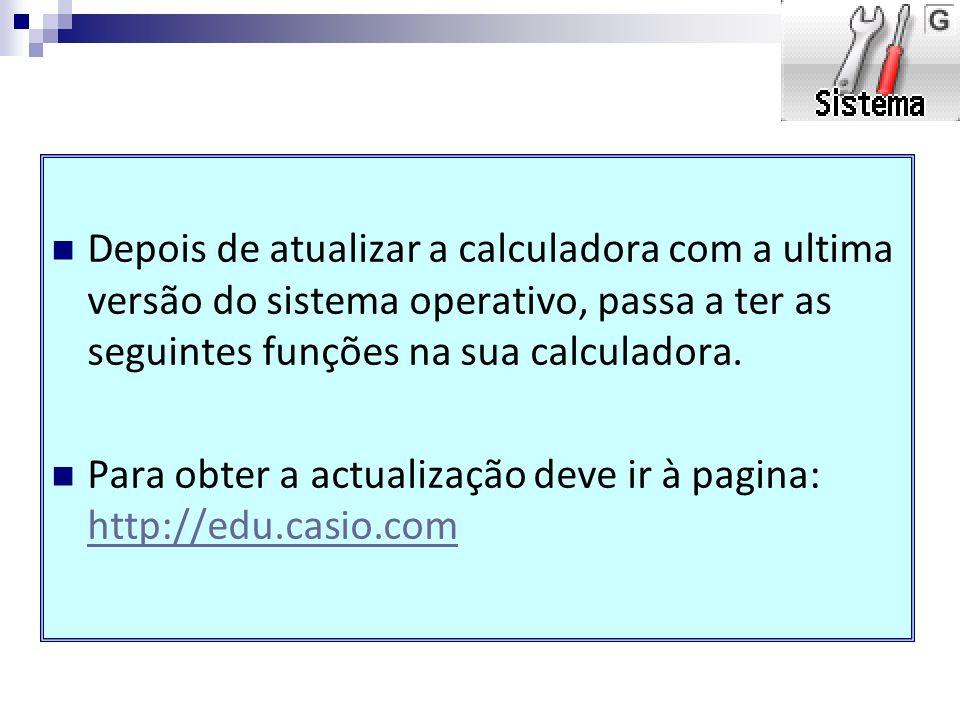 Cálculo Vetotial Além de calculo matricial passa a ter calculo vetorial Introdução de vetor Em OPTN passamos a ter diversas opções para trabalhar com vetores