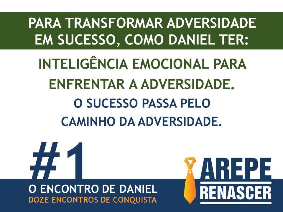 PARA TRANSFORMAR ADVERSIDADE EM SUCESSO, COMO DANIEL TER: INTELIGÊNCIA EMOCIONAL PARA ENFRENTAR A ADVERSIDADE.