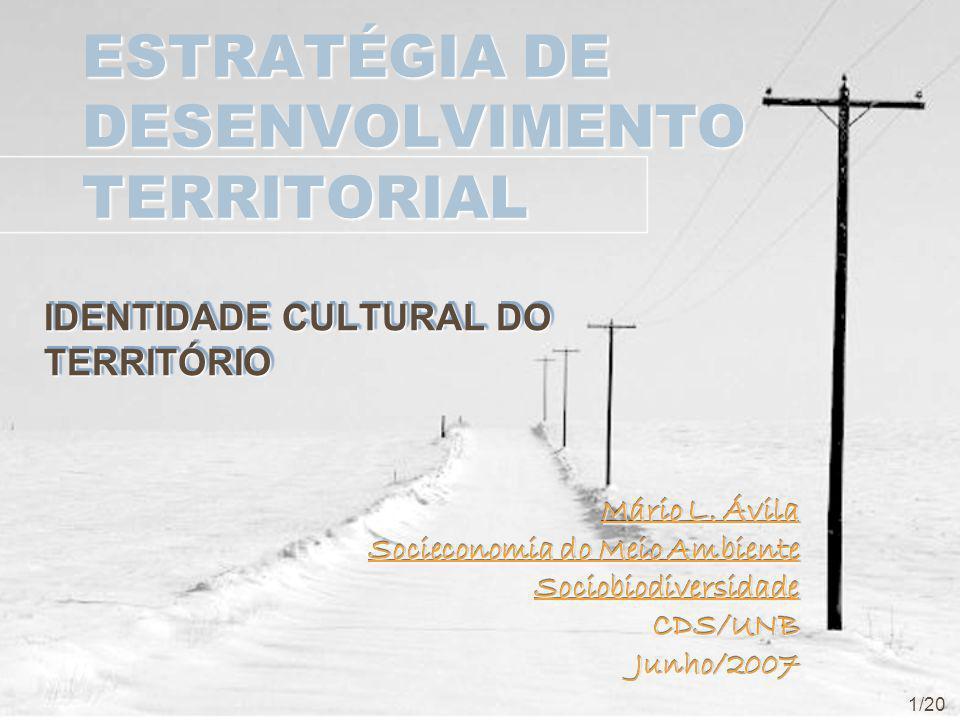 ESTRATÉGIA DE DESENVOLVIMENTO TERRITORIAL IDENTIDADE CULTURAL DO TERRITÓRIO Mário L.