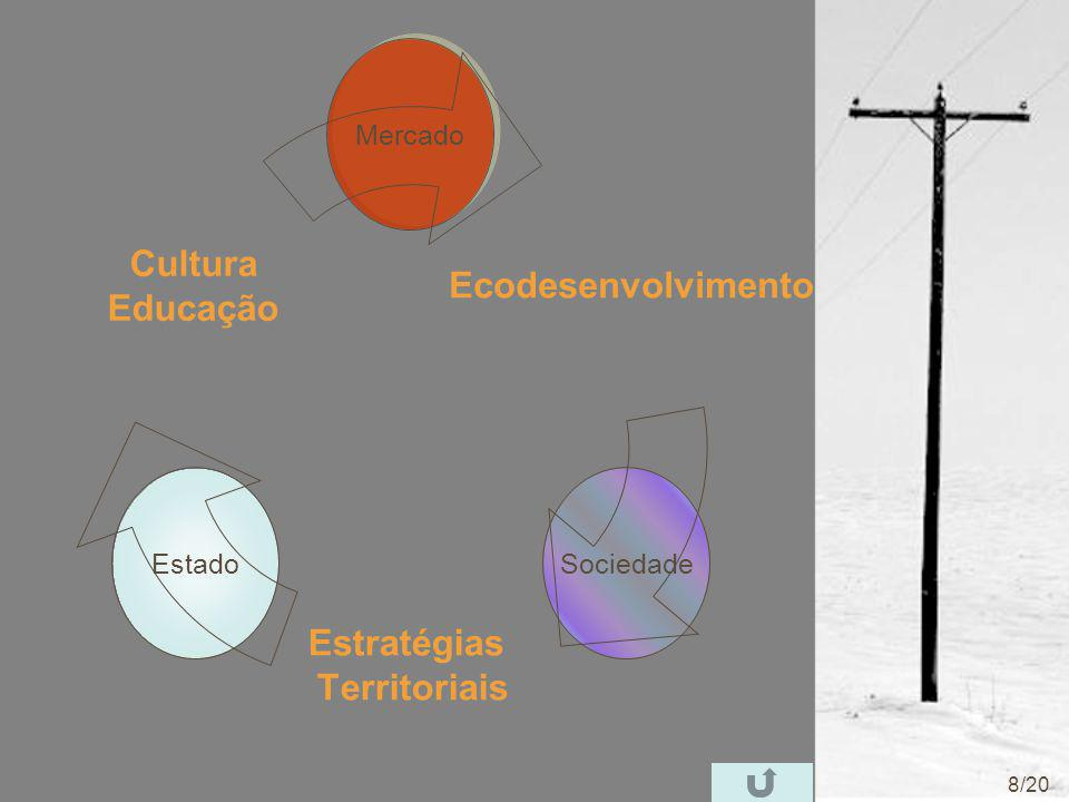 MercadoSociedadeEstado Ecodesenvolvimento Estratégias Territoriais Cultura Educação 8/20