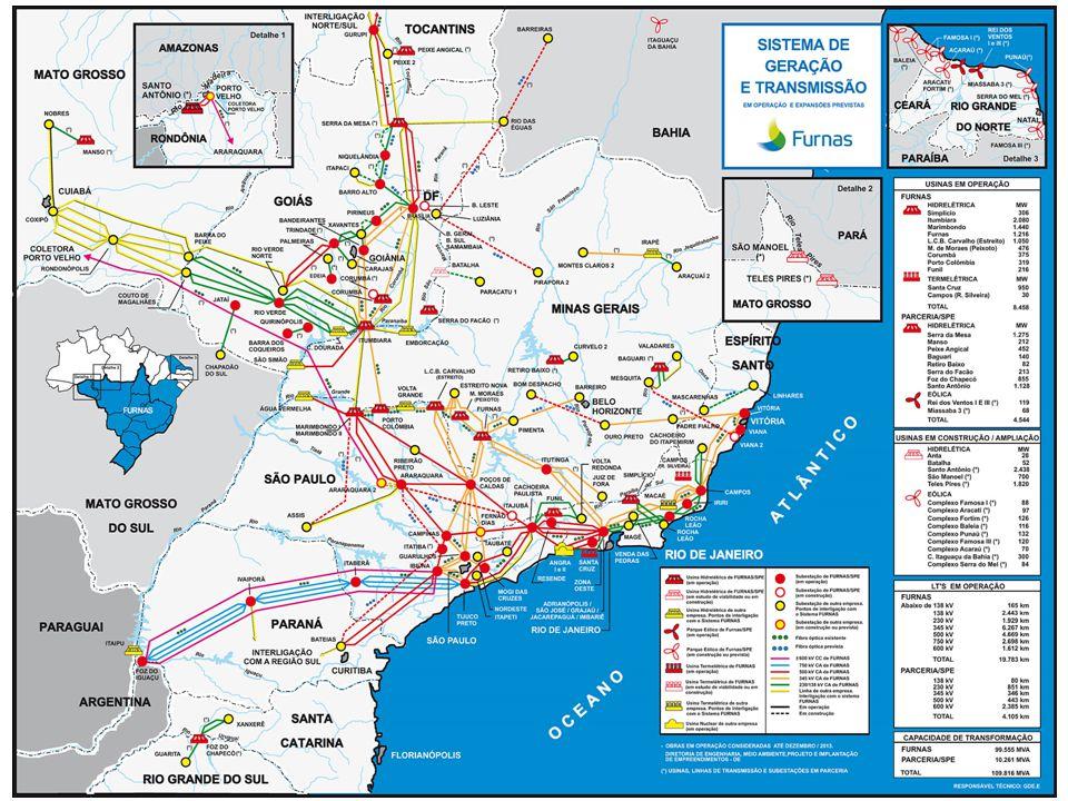 * Outras 4 Hidroelétricas em construção através de SPEs (Simplício-305,7MW e PCH Anta-28MW, Batalha- 52,5MW, Santo Antônio-3.150MW e Teles Pires); 28 LTs e 15 SEs.