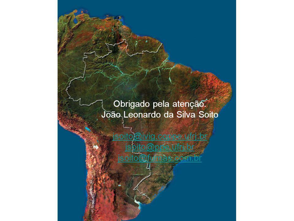 Obrigado pela atenção. João Leonardo da Silva Soito jsoito@ivig.coppe.ufrj.br jsoito@ppe.ufrj.br jsoito@furnas.com.br