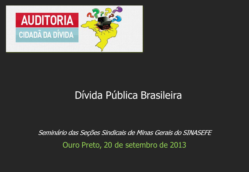 Seminário das Seções Sindicais de Minas Gerais do SINASEFE Ouro Preto, 20 de setembro de 2013 Dívida Pública Brasileira