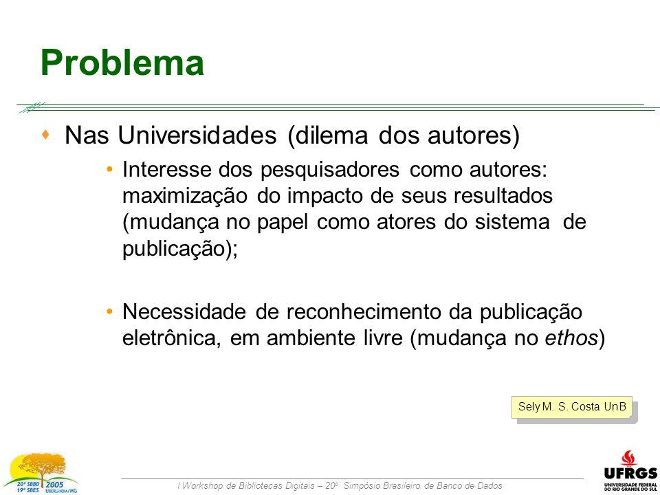 I Workshop de Bibliotecas Digitais – 20 o Simpósio Brasileiro de Banco de Dados Versionamento Uma Proposta para um Processo de Avaliação Aberta de Artigos Artigo inicial Artigo aperfeiçoado Artigo archival Conferência