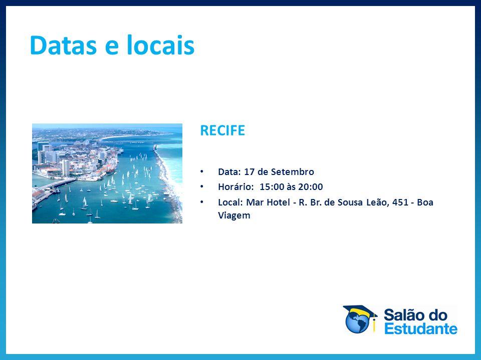 BELO HORIZONTE Data: 19 de Setembro Horário: 15:00 às 20:00 Local: Mercure Lourdes - Av.