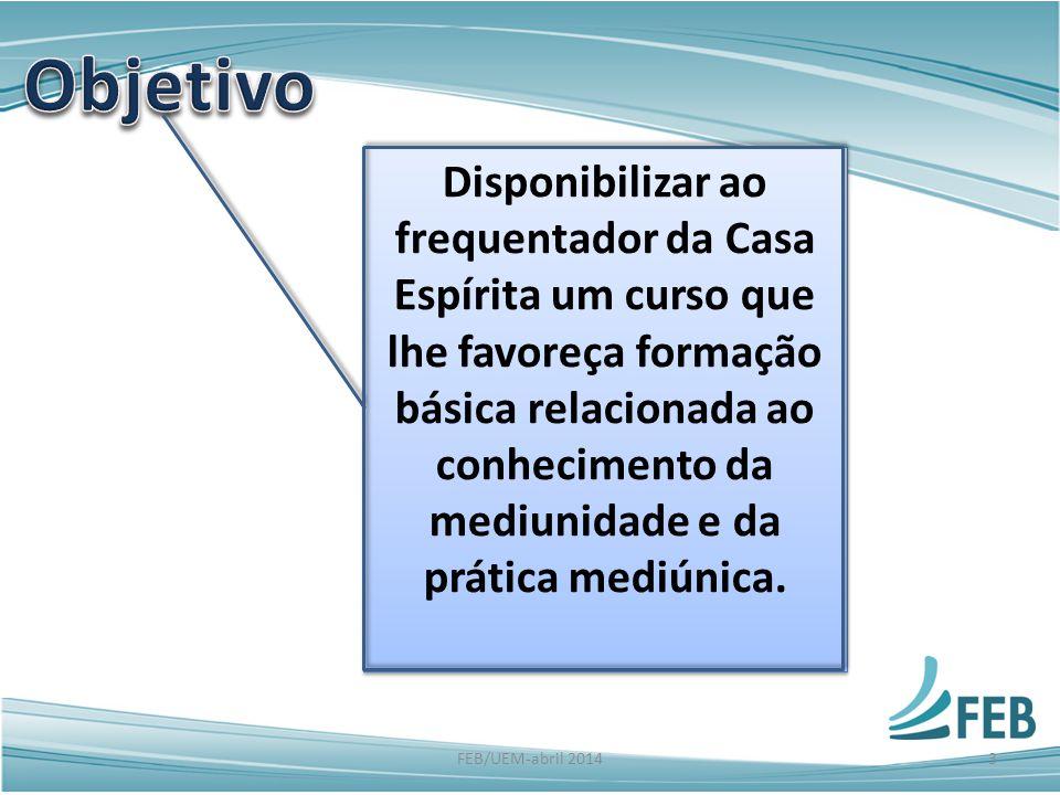 É um curso que pode ser aplicado em qualquer Centro Espírita, de pequeno, médio e grande porte.