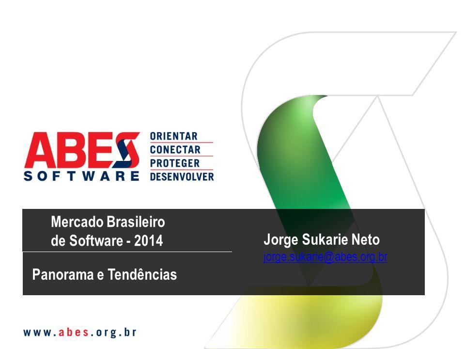 Fonte IDC – IT Black Book, Q4, 2013 (mercado total com exportações) MERCADO BRASILEIRO DE SOFTWARE E SERVIÇOS 2013 – (US$ milhões) MERCADO TOTAL DE SOFTWARE E SERVIÇOS (total com exportações) US$ 25.948 TOTAL SOFTWARE E SERVIÇOS SOFTWARE 21,4% US$ 2.340 Desenvolvido no País / Domestic Development US$ 10.945 Total Software Software Total 42,2% 76,7% US$ 8.396 Desenvolvido no Exterior / Foreign Development 1,9% US$ 209 Mercado Exportação / Export Market 85,8% US$ 12.884 Desenvolvido no País / Domestic Development US$ 15.003 Total Serviços Services Total 57,8% 9,5% US$ 1.422 Software Sob Encomenda / Taylor Made Software 0,7% US$ 99 Desenvolvido no Exterior / Foreign Development SERVIÇOS 4,0% US$ 598 Mercado Exportação / Export Market