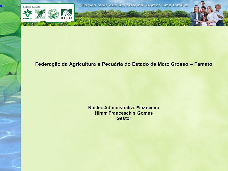 Federação da Agricultura e Pecuária do Estado de Mato Grosso – Famato Núcleo Administrativo Financeiro Hiram Franceschini Gomes Gestor A B C D E A B C