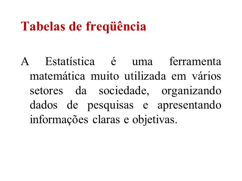 A Estatística é uma ferramenta matemática muito utilizada em vários setores da sociedade, organizando dados de pesquisas e apresentando informações cl