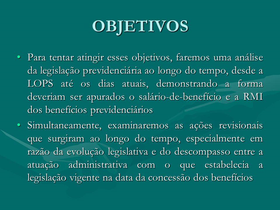 EVOLUÇÃO DA LEGISLAÇÃO PREVIDENCIÁRIA RESUMO DOS PRINCIPAIS DIPLOMAS LEGAIS EM MATÉRIA DE SISTEMÁTICA DE CÁLCULORESUMO DOS PRINCIPAIS DIPLOMAS LEGAIS EM MATÉRIA DE SISTEMÁTICA DE CÁLCULO Não abrange toda legislação sobre correção monetária de parcelas vencidas de uma condenação, questão que será examinada no transcorrer da apresentaçãoNão abrange toda legislação sobre correção monetária de parcelas vencidas de uma condenação, questão que será examinada no transcorrer da apresentação